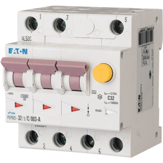 Jordfeilautomat PKPM3-32/3/C/003-A Eaton