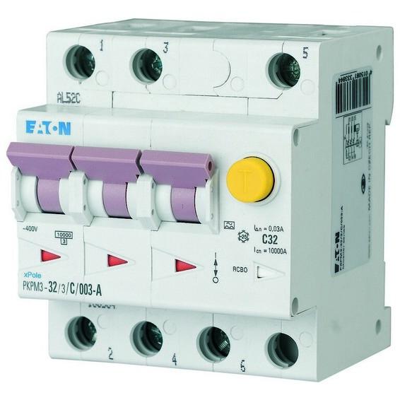 Jordfeilautomat PKPM3-32/3/C/003-G/A Eaton