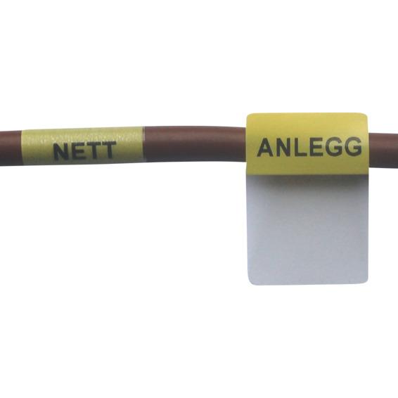 MÅLERSLØYFEMERKING NETT/ANLEGG GUL 25,4X36,5 PK/48