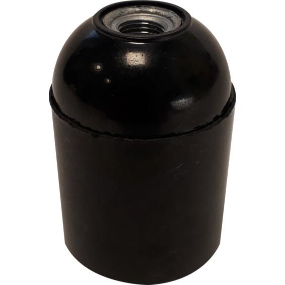 Lampeholder slett E27 SORT