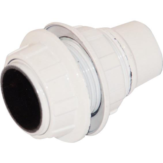 Lampeholder Mignon E14 slett HVIT