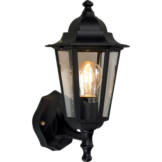 02f7a0f68 Kristiansand utelampe vegg opp sortElektro-Armatur Taklampe / Vegglampe