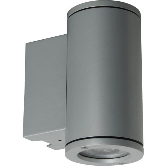 Unilamp Tube 5007 Wall Up/Down 6,5W LED GU10 IP65 Sølv