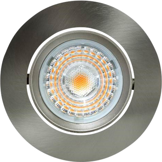 Alfa Downlight 10W børstet stål