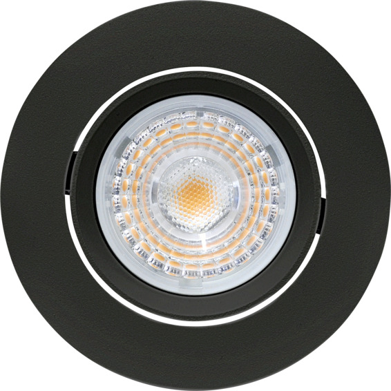 Alfa LED Downlight 10W Matt Sort IP44