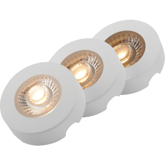Namron skapbelysning LED 3x4W matt hvit