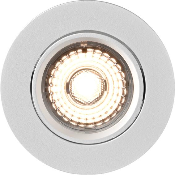Alfa 360-tilt Downlight Warmdim 8W matt hvit