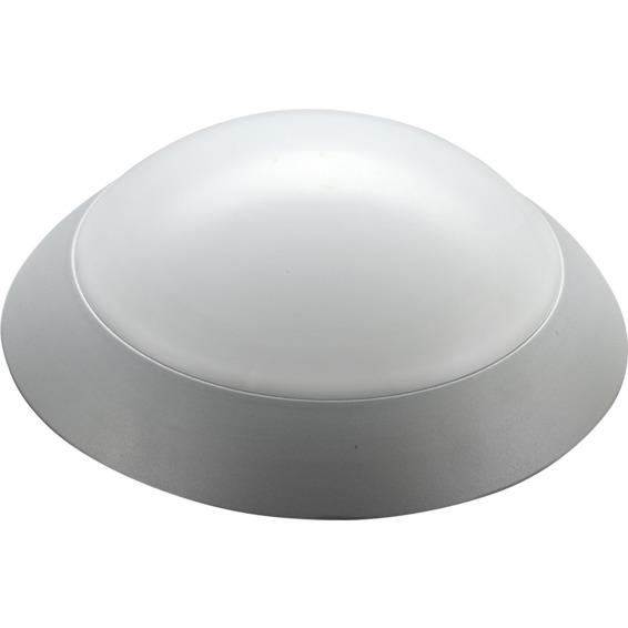 Takarmatur ECOLED Alu 12W sølv IP44 Kl.II