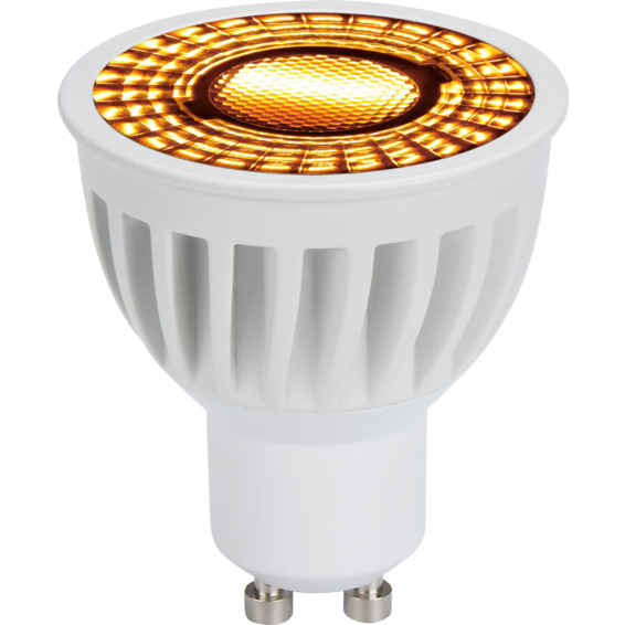 LED Pære warmdim 6W hvit GU10