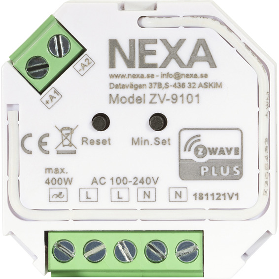 Nexa Z-Wave Mottager dimmer ZV-9101