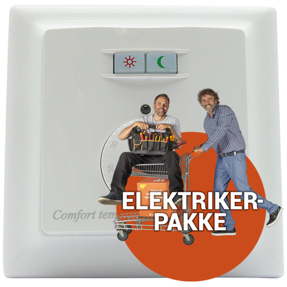 Ferdig montert termostat - Varmecomfort 740 ECO