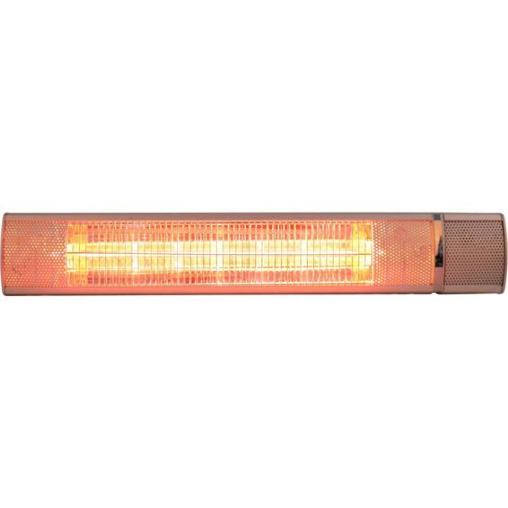 Terrassevarmer Low Glare m/Fjernkontroll 2000W Sølv