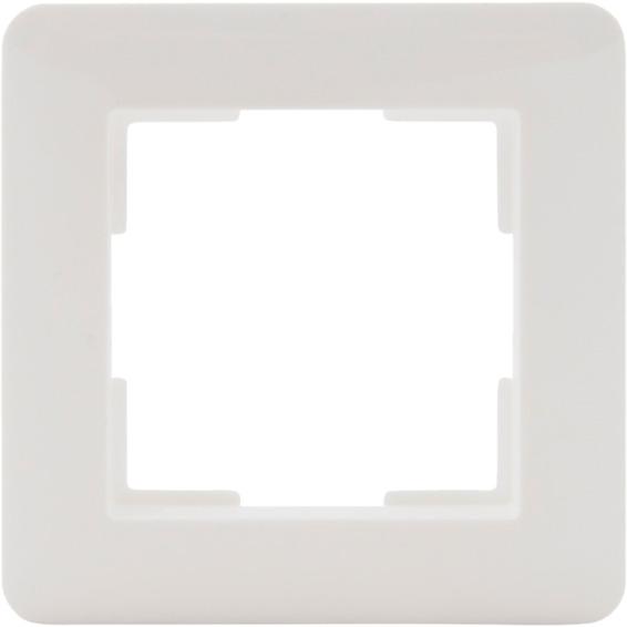 Multireg ramme enkel plast hvit