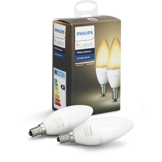 Philips Hue WA E14 Lyskilde 6W 2pk