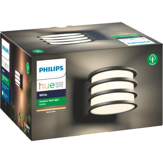 Philips Hue W Lucca Vegglampe 1x9.5W Sort