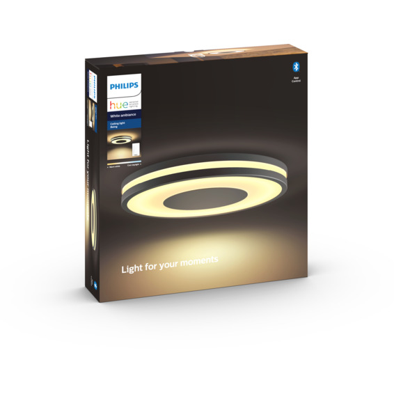 Philips Hue WA Being Taklampe 39W Sort inkl dimmebryter
