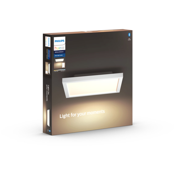 Philips Hue WA Aurelle Taklampe Kvadrat 30x30 Hvit 28W