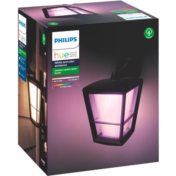 Philips Hue WCA Econic Vegglampe Ned Sort