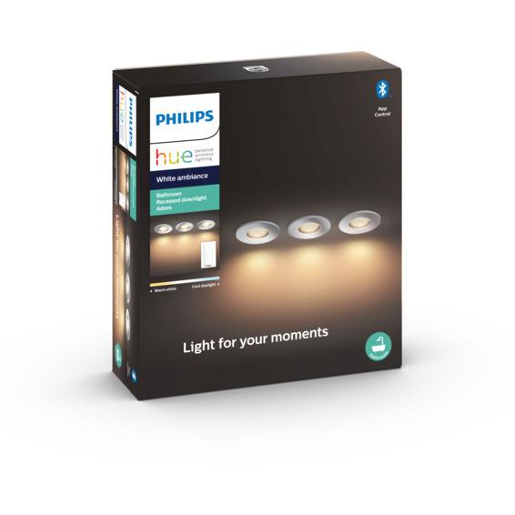 Philips Hue WA Adore Recessed Spotlight 5W 3pk