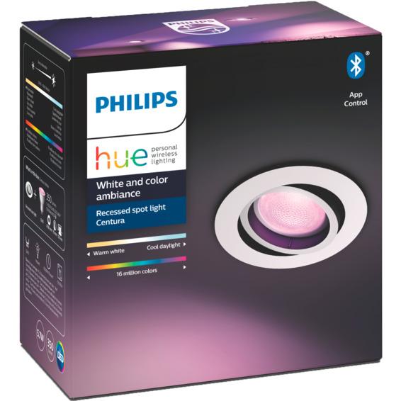 Philips Hue W Centura Recessed Spotlight Hvit Rund 5.7W BLT