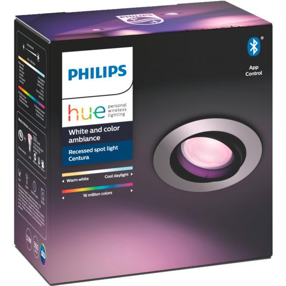 Philips Hue W Centura Recessed Spotlight AL Rund 5.7W BLT