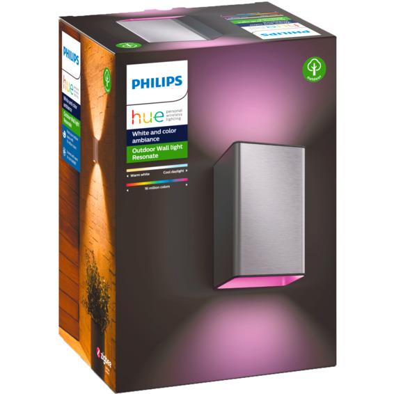 Philips Hue WCA Resonate Vegglampe 2x8W Rustfritt stål