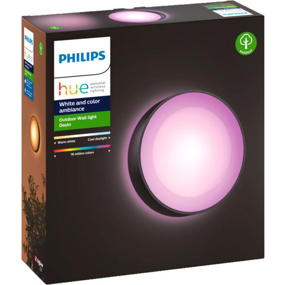 Philips Hue WCA Daylo Vegglampe 1x15W Sort