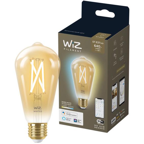 WiZ Lyskilde WA 6,7W ST64 Gyllen E27 WiFi