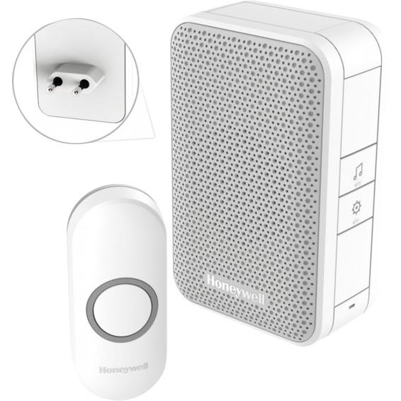 Ringeklokke Plug-In trådløs m/ringeknapp Honeywell