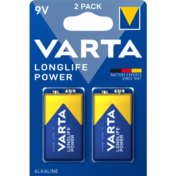 Batteri Varta High Energy 9V 2-PK