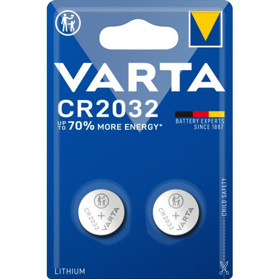Batteri Varta CR2032 Lithium 3V 2-PK