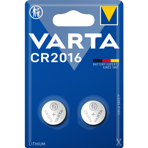 Batteri Varta CR2016 Lithium 3V 2-PK