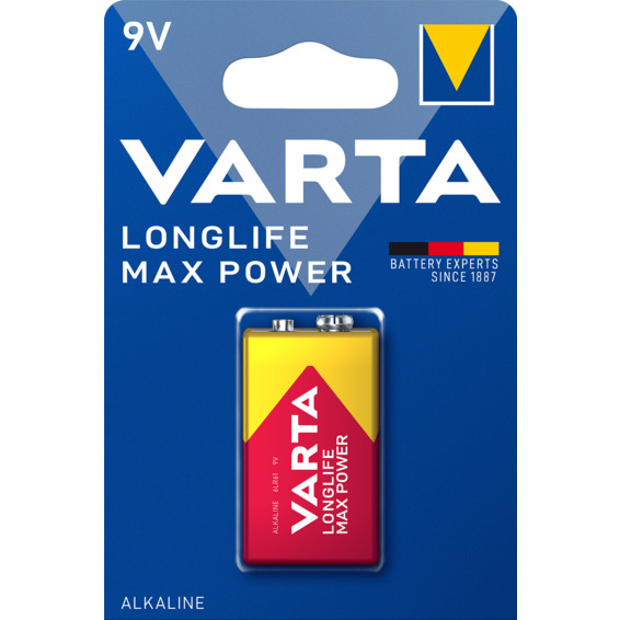 Batteri Varta Max Tech 9V 1-PK