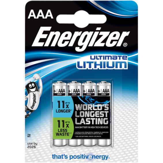 Batteri Ultimate Lithium AAA L92 4pk Energizer