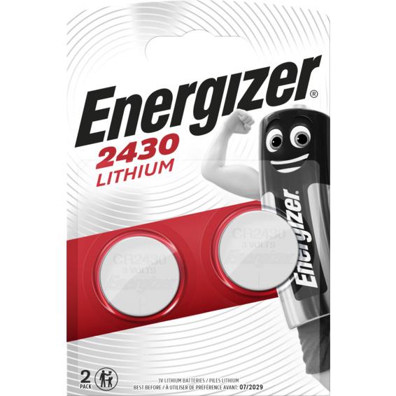 Batteri CR2430 Lithium 3V 2-pakning ENERGIZER