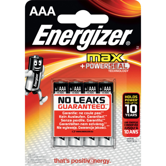 Batteri LR03 AAA/E92 4pk ENERGIZER MAX