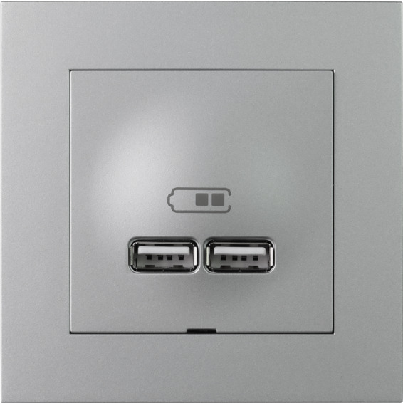 Plus USB lader 2,1A I ALU