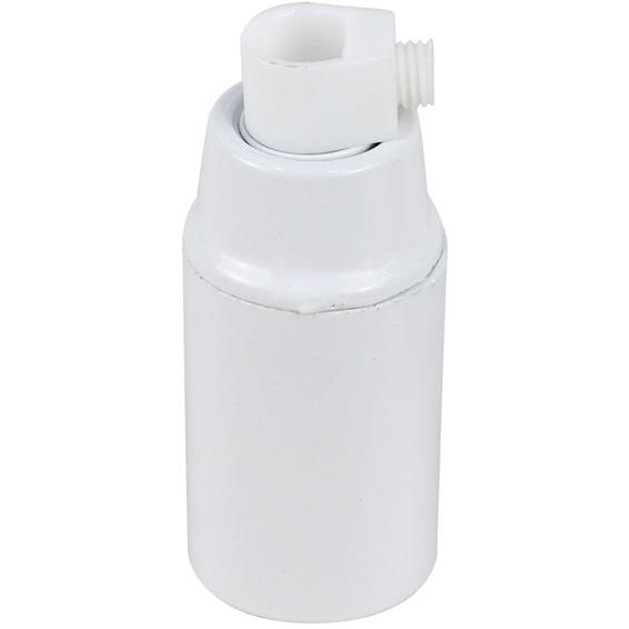 Lampeholder slett E14 hvit
