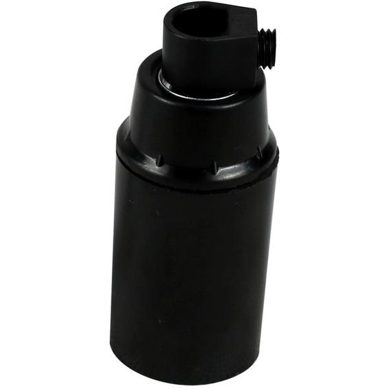 Lampeholder slett E14 sort
