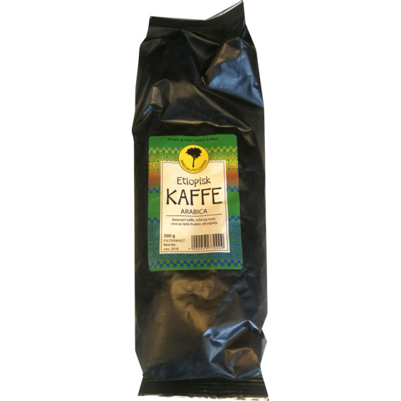 Etiopisk Kaffe Arabica 500g Bønner