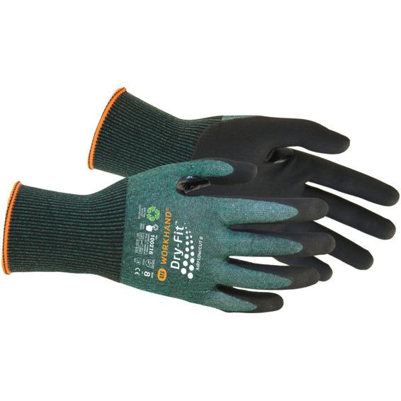 Monteringshanske Dry Fit Airflow/Cut B Str.8 Grønn