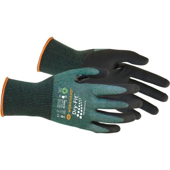 Monteringshanske Dry Fit Airflow/Cut B Str.9 Grønn