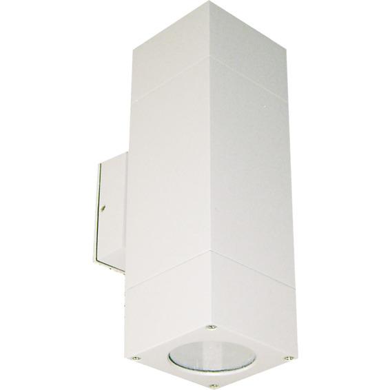 Utelampe Veggspot Atrix Dobbel Sølvgrå 2x3W LED GU10 IP44