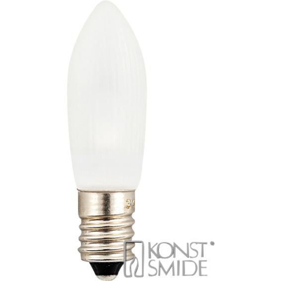 Reservelampe E10 universal 14V-55V LED 0,2W frostet 3pk