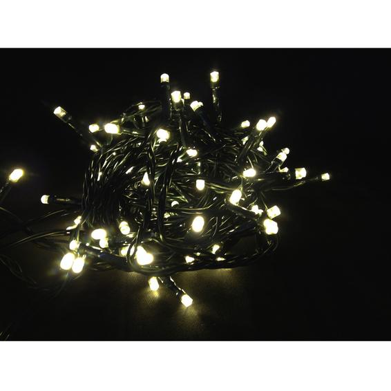Juleslynge 80 LED varmhvit svart kabel IP44