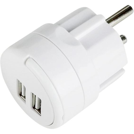 USB Lader dobbel 2,4A
