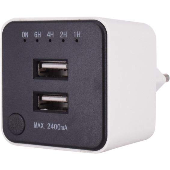 USB Lader Med Timer