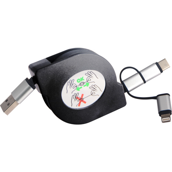 Ladekabel USB 1 meter Sort
