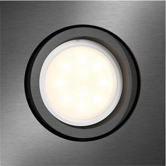 Philips Shellbark LED DL 4.5W Firkantet Grå