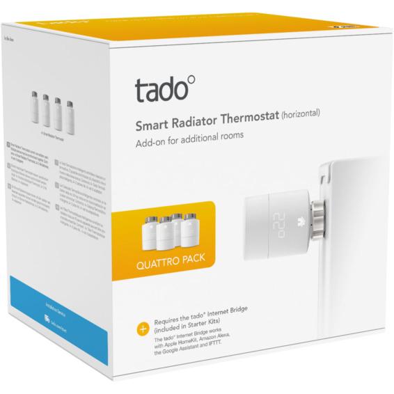 Tado Smart Radiator Thermostat Quattro Pack V3+